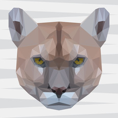 Abstract polygonal puma background