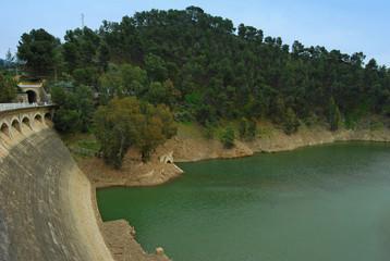 Río Guadalmedina, embalse del Limonero, Málaga, Andalucía