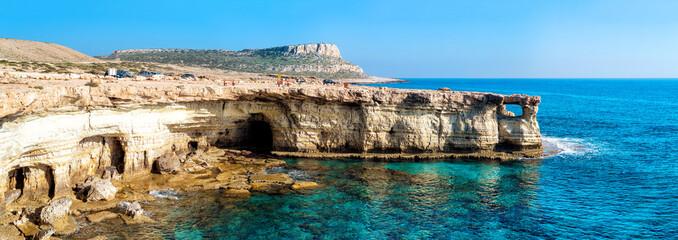 Sea caves panorama