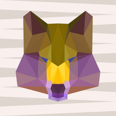 abstract geometric polygonal wolf