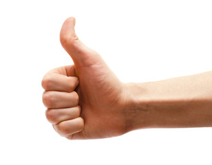 Hand thumbs up