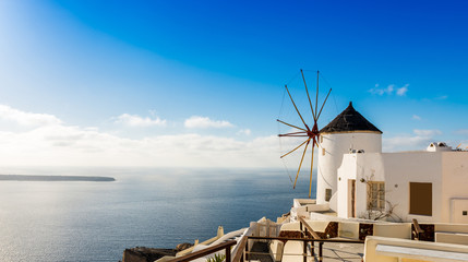 Oia à Santorin, archipel des Cyclades, Grèce