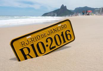 Rio de Janeiro 2016 Schil am Strand Ipanema