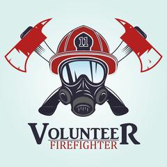 firefighter emblems, labels, badges and logos on light background.  .vector illustration