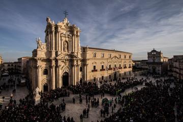 Duomo di Siracusa- festa di Santa Lucia Fototapete