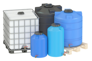 group of water tanks