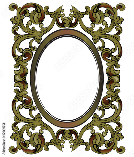 bronze decor mirror frame with classic royal ornaments vector stock image and royalty free. Black Bedroom Furniture Sets. Home Design Ideas