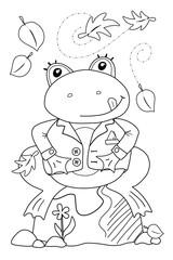 Frosch (Malvorlage)