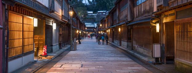 Higashiyama Higashi Chaya District in Kanazawa Japan