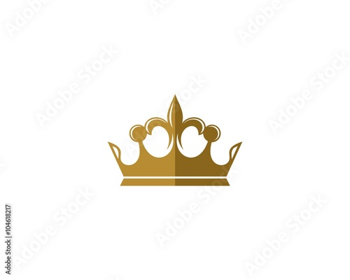 "gold crown logo template"" stock image and royalty-free vector"