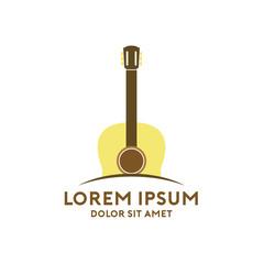 Guitar classic logo vector illustartion