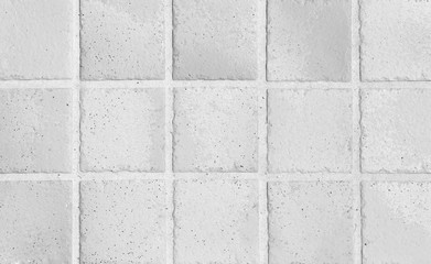 White earthenware floor tile seamless background and texture