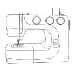 Sewing machine. Vector illustration.