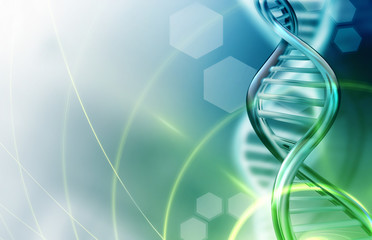 DNA strands background