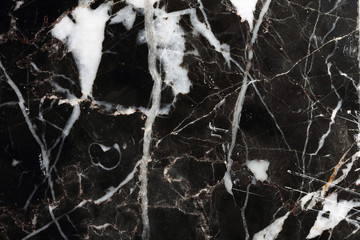 Detailed structure of marble in natural patterned for background and design product, Black marble texture.