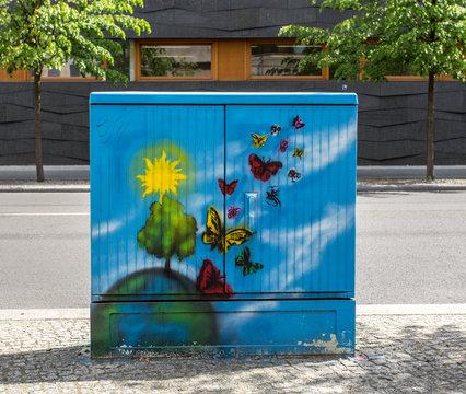 Bemalter Stromkasten in Berlin