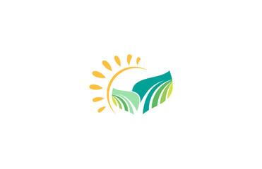 sun leaf logo