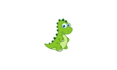 Cute Green little Dino
