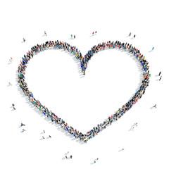 people shape heart love icon