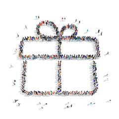 people  shape  gift icon