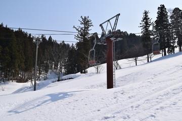 スキー場/山形県の庄内地方で、スキー場を撮影した写真です。