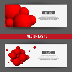 EPS 10 vector illustration. Abstract 3D background with geometric design elements. Vector design style Business card, letterhead, brochure, banner.