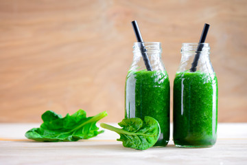 Green smoothie bottles