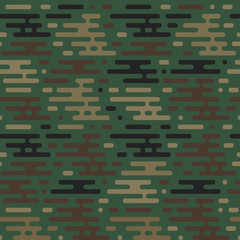 Vector seamless military pattern