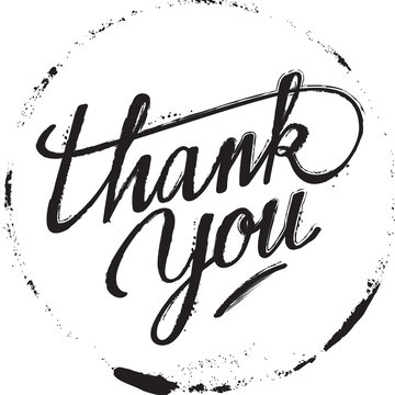 Lettering Thank You : Vector Illustration