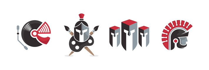 Best Spartan Set Logo Elements