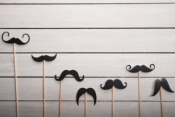 Wedding accessories set moustache