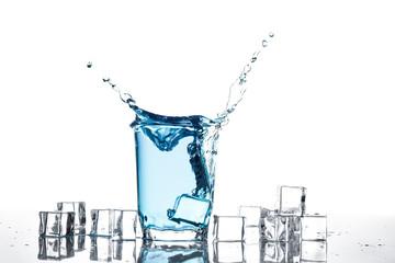 Splash of water in glass