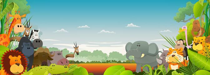 Wildlife African Animals Background