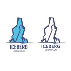 High iceberg logo. Vector icon