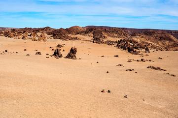 Deserted volcanic landscape