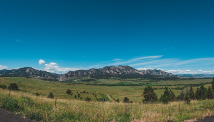 Flat Iron Range and Prairie, Boulder, CO