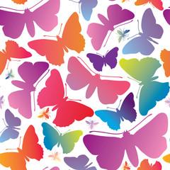 Butterflypattern. Summer holiday seamless background.