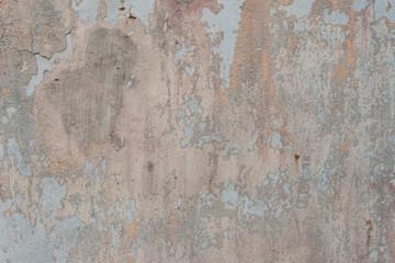 Foto auf AluDibond Alte schmutzig texturierte wand Wall fragment with attritions and cracks