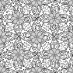 Abstract floral geometric pattern. Geometric ornament. ornamental  textured background.