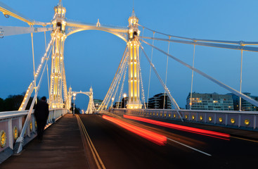 Albert bridge at night