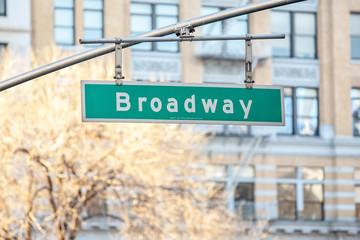 Street sign on Broadway