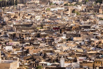 view over the medina of fes