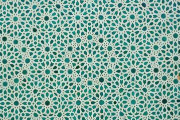 green moroccan tiles
