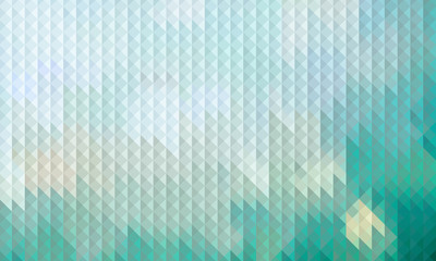 Abstract geometric triangle background, turquoise background