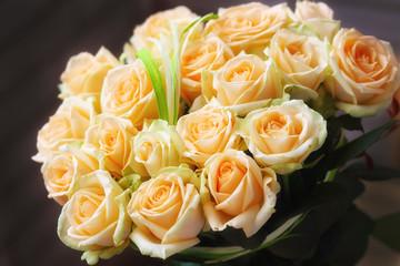 Natural pastel roses background