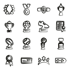 Reward Or Prize Icons Freehand
