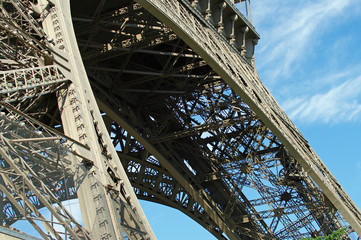 Eiffelturm in Paris (Detail)