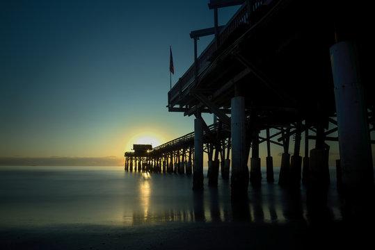 Florida-Pier von Cocoa Beach -Langzeitbelichtung