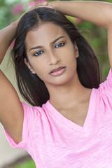 Beautiful Indian Asian Young Woman Girl