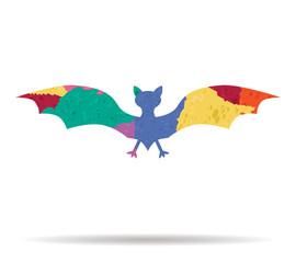 bat drawn painted icon vector